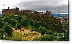 Edinburgh Castle Acrylic Print by Louise Fahy
