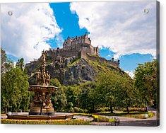 Edinburgh Castle From The Gardens Acrylic Print