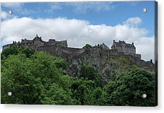 Acrylic Print featuring the photograph Edinburgh Castle In Scotland by Jeremy Lavender Photography