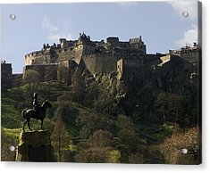 Edinburgh Castle Acrylic Print by Mike Lester