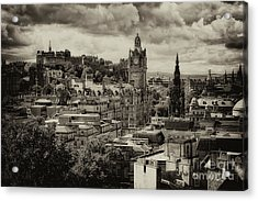Acrylic Print featuring the photograph Edinburgh In Scotland by Jeremy Lavender Photography
