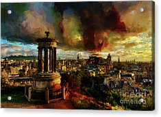 Edinburgh Scotland 01 Acrylic Print by Gull G