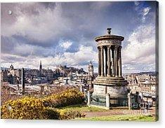 Acrylic Print featuring the photograph Edinburgh Skyline by Colin and Linda McKie
