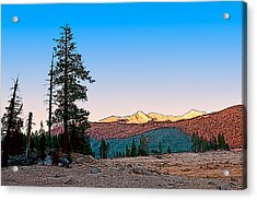 Acrylic Print featuring the painting Edison Sunset by Larry Darnell