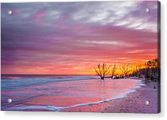 Edisto Beach Sunset Acrylic Print