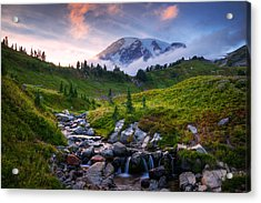 Edith Creek Sunset Acrylic Print