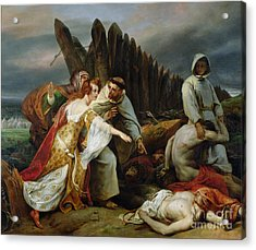 Edith Finding The Body Of Harold Acrylic Print by Emile Jean Horace Vernet