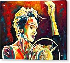 Edith Piaf- La Mome Acrylic Print by Vel Verrept