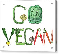Editorial Illustration Go Vegan Acrylic Print