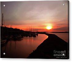 Edmonds Washington Boat Marina At Sunset Acrylic Print
