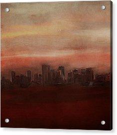 Edmonton At Sunset Acrylic Print