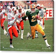 Edmonton Eskimos Football - Tom Richards 1988 Acrylic Print