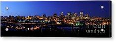 Edmonton Skyline Panorama 4 Acrylic Print by Terry Elniski