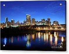 Edmonton Skyline Acrylic Print