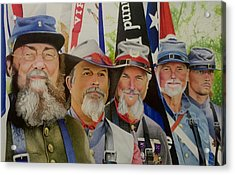 Edmund Ruffin Fire Eaters Color Guard 2016 Acrylic Print by David Hoque
