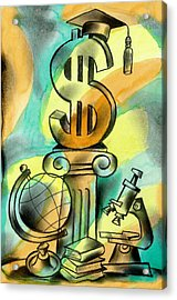 Education And Money Acrylic Print