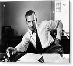 Edward R. Murrow, 1954 Acrylic Print by Everett