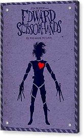 Edward Scissorhands Alternative Poster Acrylic Print