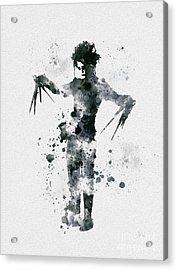 Edward Scissorhands Acrylic Print by Rebecca Jenkins