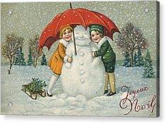 Edwardian Christmas Card Acrylic Print