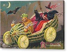 Edwardian Halloween Card Acrylic Print