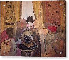 Acrylic Print featuring the painting Edwardian Hats by Judith Desrosiers