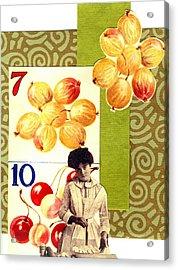 Edwardian Pie Lady Acrylic Print by Marcia Masino