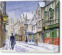 Edwardian St. Aldates. Oxford Uk Acrylic Print by Mike Lester