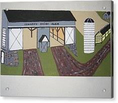 Acrylic Print featuring the painting Edwards Dairy Farm by Jeffrey Koss