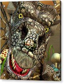 'edwin' Dragon - Shows His Cute Side ....... Acrylic Print