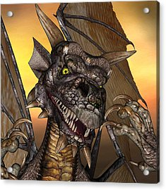 'edwin' Dragon - With Claws Like These Who Needs A Tooth Pick  Acrylic Print