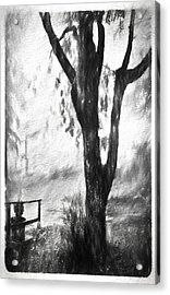 Tree In The Mist Acrylic Print