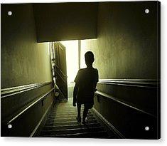 Eerie Stairwell Acrylic Print by Scott Hovind