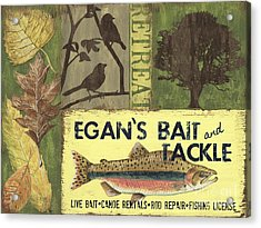 Egan's Bait And Tackle Lodge Acrylic Print by Debbie DeWitt