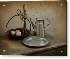 Egg Beaters Acrylic Print by Robin-Lee Vieira