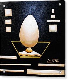 Egg In A Bowl Acrylic Print by Lori McPhee