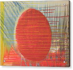 Egg Shaped Red Orb Acrylic Print by James Howard