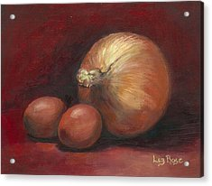 Eggs And Onions Acrylic Print by Liz Rose