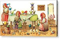 Eggs Dyeing Acrylic Print by Kestutis Kasparavicius