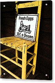 Eggs For Sale Acrylic Print by Lori Mellen-Pagliaro