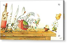 Eggs Liberty Acrylic Print by Kestutis Kasparavicius