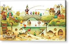 Eggstown Acrylic Print by Kestutis Kasparavicius