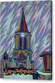 Eglise Onze - Onze Acrylic Print by Robert SORENSEN