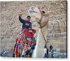 Egypt - Boy With A Camel Acrylic Print by Munir Alawi