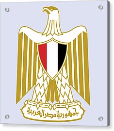 Egypt Coat Of Arms Acrylic Print by Movie Poster Prints