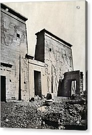 Egypt: Temple Of Isis Acrylic Print by Granger