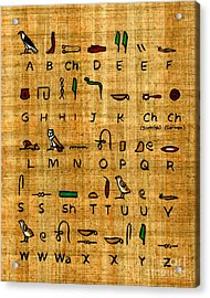Egyptian Alphabet Acrylic Print