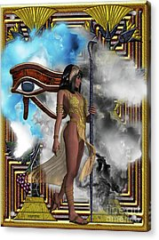 Egyptian Echoes Of Time Acrylic Print by Corey Ford