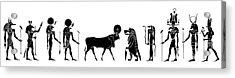 Egyptian Gods And Demons Acrylic Print by Michal Boubin