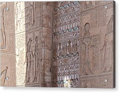 Acrylic Print featuring the photograph Egyptian Hieroglyphs by Silvia Bruno